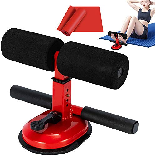 BOZOYYGH Sit Up Bar with Resistance Band - Workout Equipment Sit Up Bench for Floor - Portable Adjustable Workout Benches Abdominal Muscle Toner for Home