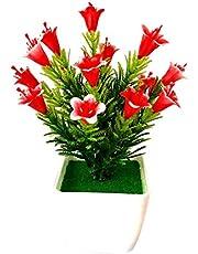 KeKeandYaoYao Çiçek 1 Parça Yapay Çiçek Lilyum Casa Blanca Bitki Düğün Ev Çiçek Bonsai Dekoru? Kırmızı