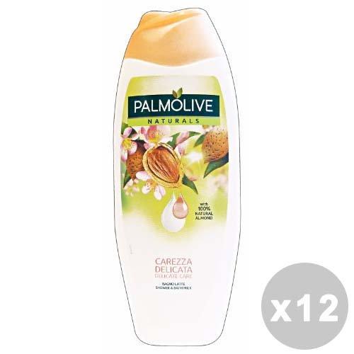 Set von 12Palmolive Bad 500ml. Mandel Liebkosung Sanfte Seifen und Kosmetik