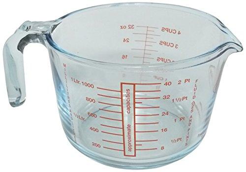 アデリア 調理もできるフランス製耐熱メジャーカップ 1000ml クリア 20734397