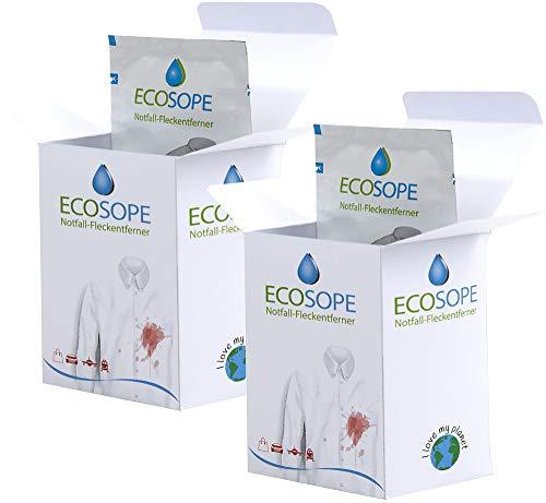 ECOSOPE 2x10er Pack Notfall-Fleckentücher Fleckenentferner (20 Stk)