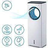 MovilCom® - Climatizador de Verano | Climatizador evaporativo 3 en 1 | Enfriador | Humidificador | Ventilador con Aire enfriado y purificado | con Mando | 4L de Capacidad