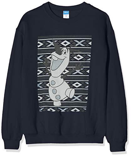 Disney Frozen Herren Men's Christmas Olaf Smile Sweatshirt, Blau (Navy 004), XX-Large