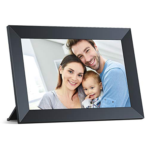 WiFi Digital Picture Frame, Crosstour Smart Cloud Electronic Photo Video Frame with IPS Touch Screen 16GB Storage, Frameo APP, Auto-Rotate, Wall Mountable