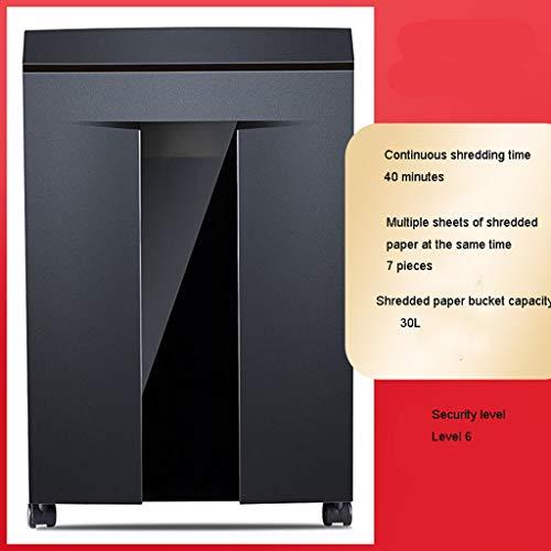 TUCY Electric Paper Aktenvernichter Silent Paper Schredder, Haushalts File Dokumentenvernichter Granular for Continuous Reißwolf In Handelsbüro (Size : 40 Minutes (30L))