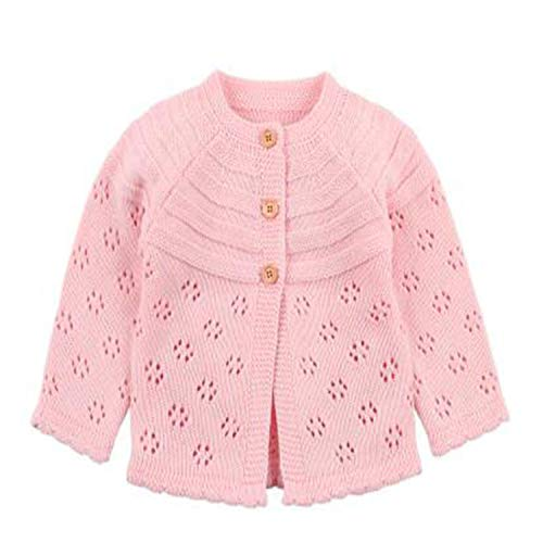 Spring Baby Girl Sweater Cardigans Autumn Newborn Knitted Jackets Toddler Infant Knitwear Coats 82W475 Pink 9M