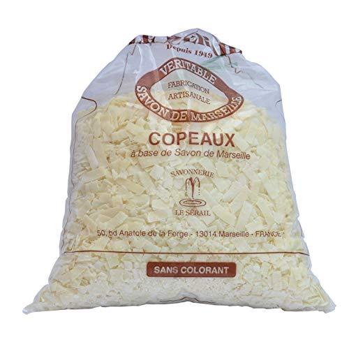 Scaglie di sapone di Marsiglia senza profumo, detersivo per bucato di fabbricazione artigianale da Le Serail (dal 1949), 1 Kg