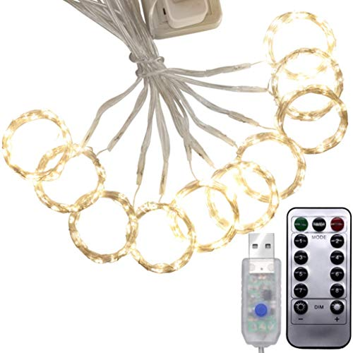 USB Remote Control Lights LED Star Lights Halloween Decoration Copper Line Lights Curtain Lights 3M