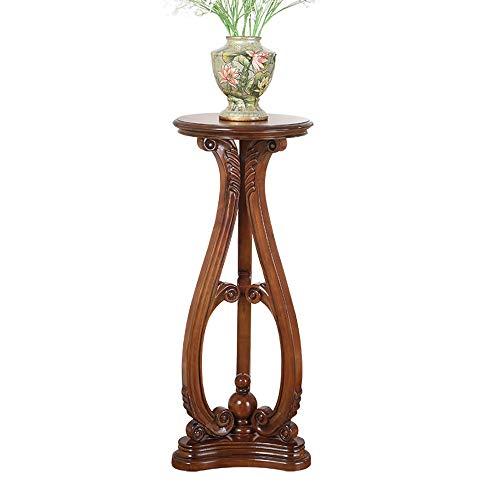 H-ei Amerikanischer Massivholz Wohnzimmer Blumen-Stand-Tisch-Innendekoration Topf-Rack Europäischen Boden-stehender einzelner Holzblumen-Schreibtisch