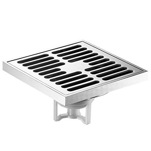 RENTEG Quadratischer Dusche-Abfluss, Einbauschränke Dusche-Abfluss mit Abnehmbarer Filterabdeckung, Design Anti-Verstopfungs