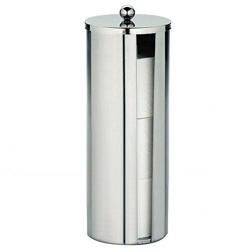 Kela 18138, Toilettenpapierhalter Theo, Edelstahl, H 38 cm / ∅ 13,5 cm, Silber glänzend