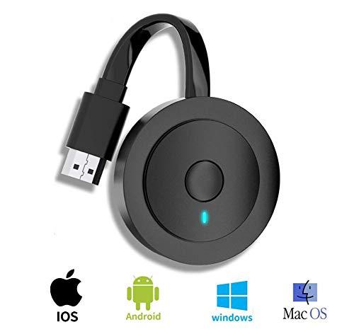 ILYWZY Pantalla HDMI Dongle de la Radio inalámbrica del Adaptador del Receptor Transmisión androide/iOS/Ventana/Mac OS Ordenador portátil, teléfono, Tableta, PC a HDTV/Monitor/proyector
