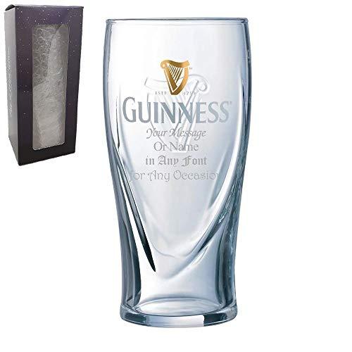 Copa Guinness con grabado personalizable, en caja de regalo, personalizable con cualquier mensaje para cualquier ocasión