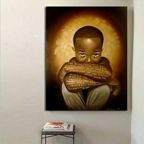 NIMCG Lienzo Pintura Black Pain Art Picture Carteles e Impresiones en Lienzo Cuadros de Pared para Sala de Estar Pintura Wall Art Posters (Sin Marco) 60x80CM