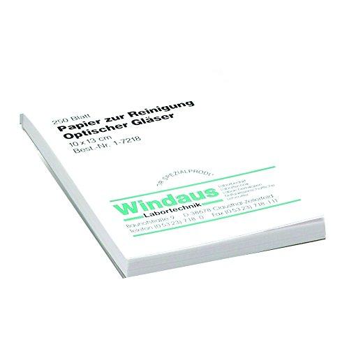 Windaus Linsen Reinigungspapier, Block mit 250 Blatt 10x13 cm