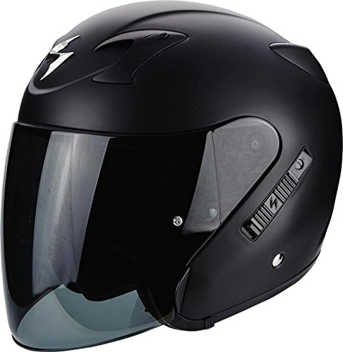 Scorpion CASCO MOTO EXO-220 SOLID Matt Black M,UNISEXO,Negro mate,M