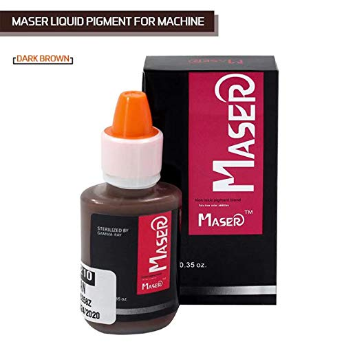 BIOMASER 3D Microblading Pigment Tattoo Ink for Permanent Makeup Machine for Eyebrow Eyeliner (Dark Brown)