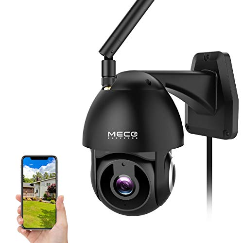 Outdoor Camera Wireless, MECO 1080P HD Pan/Tilt WiFi Home Security Camera with Waterproof, Motion Detection, Auto Tracking, Night Vision, 2-Way Audio, Compatible with Alexa [Not Battery-Powered] Bullet Cameras Computers Features