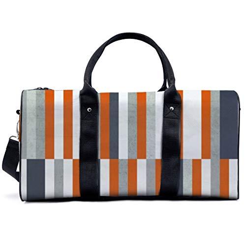Bolsa de deporte para gimnasio, naranja, azul marino, gris, gris, abstracta, náutica, marítima, bolsa de yoga, bolsa de hombro, bolsa de viaje, bolsa de viaje para hombres y mujeres