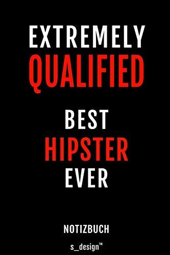 Notizbuch für Hipster: Originelle Geschenk-Idee  [120 Seiten liniertes blanko Papier]