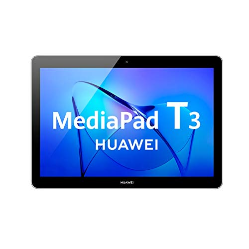 Huawei Mediapad T3 10 - Tableta 9.6, HD IPS, WiFi, Procesador Quad-Core Snapdragon 425, 2GB RAM, 16GB Memoria Interna, Android 7, color Gris
