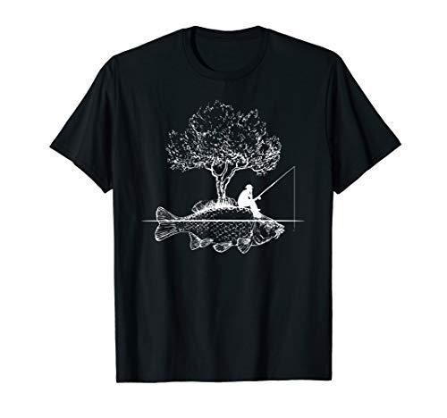 Angel Fisch Insel Kreativ Kunst Angler Geschenk T-Shirt