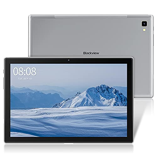Blackview Tablet 10,1 Zoll, Tab8 Tablet 4GB RAM mit 64GB Speicher, 6.580mAh Akku, 1920x1200 FHD IPS Display Android 10 Octa-Core Prozessor, 13MP+5MP Kamera, GPS, OTG, 4G Dual SIM Tablet PC (Grau)