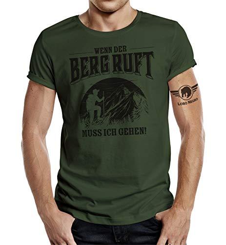 Bergsteiger T-Shirt: Wenn der Berg Ruft muss ich gehen M