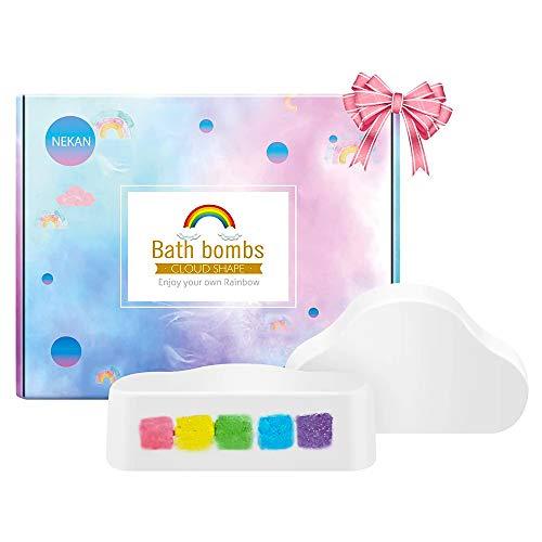 Bombe da Bagno,NEKAN regalo bombe da bagno per bolle per bambini, bomba da bagno frizzante...