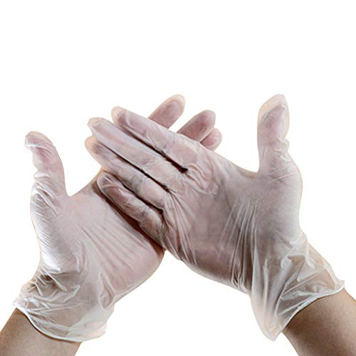 Great Price! Sunnyadrain PVC Disposable Gloves, Gloves Disposable Latex Free Powder FreeFood Grade N...
