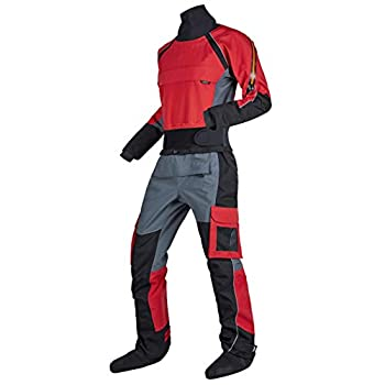 KING-Q PROOF Mens Kayak Surf Drysuit Comfort Canoe Durability Waterproof SuitProtects Against Ingress of Water Mud Perfect Dry Suit for Fit ATV & UTV Riders  Red XXXL