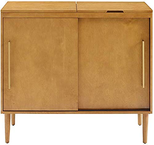 Crosley Furniture Everett Mid-Century Modern Media Console, Acorn
