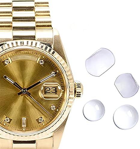 7.0x5.5mm/5.5x4.5mm/5.5mm opcional zafiro burbuja Lupa calendario lente para fecha ventana reloj cristal parte, Round 5.5mm,