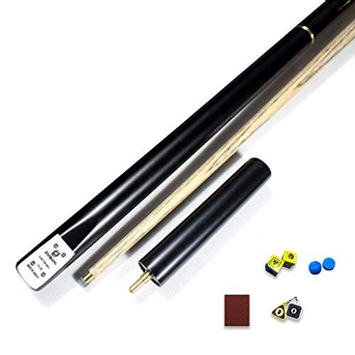 ZHTY 57-Zoll-Snooker-Queue, 3/4 Joint Handmade Ash Tip 9,5 mm Pool-Queue-Set mit Erweiterung und Queue-Koffer-Set Pool-Queue