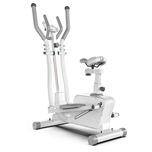 Pillowcase 3 in 1 Cross Trainers, 16 Level Adjustable Magnetic Resistance Elliptical Cross Trainer Machine with Seat, Gym Household Portable Small Ultra Quiet Fitness Equipment,White