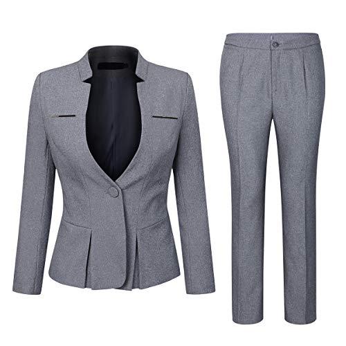 YYNUDA pak set dames blazer met rok/broek slim fit broekpak elegante business outfit voor kantoor