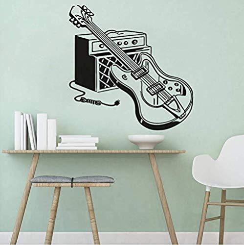 Guitarra eléctrica instrumento musical etiqueta de la pared decoración del hogar arte...