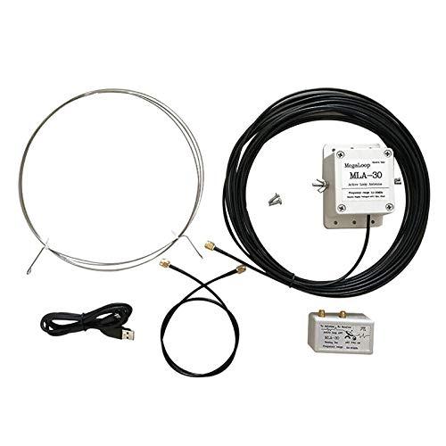 MLA-30 Loop Antenna 100kHz - 30MHz Active Directional Receive Antenna para la antena receptora a prueba de lluvia de radio de onda corta