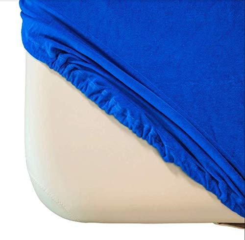 Funda de rizo Zen para tumbonas de masaje, apta para 71 – 81 cm x 185 – 195 cm, con certificado Oeko Tex 100, azul real