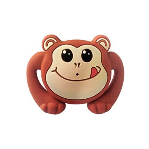 Kongqiabona-UK Silicone Amusant bébé Mamelon Mannequin Mamelon Gel Dentaire Jouet apaisant Tout-Petit Mamelon orthodontique bébé Cadeau de Noël Soins pour bébé