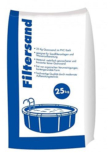 Hamann Filtersand 0,4-0,8 mm 25 kg für Sandfilteranlagen und Poolfilter
