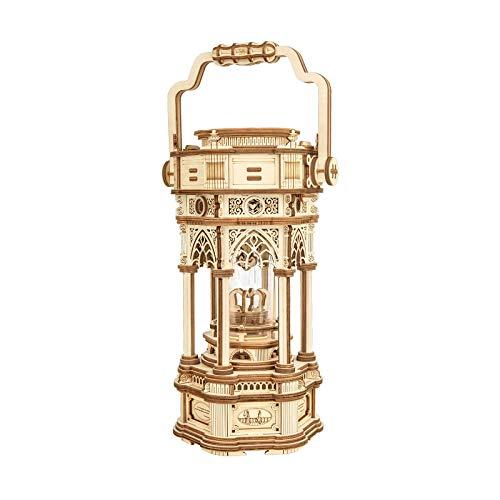 ROKR Holz 3D Puzzle Erwachsene Holzbauset Modellbausätze Viktorianische Laterne Mechanisch Musikbox Geschenke für Jugendliche und Erwachsene (Victorian Lantern)