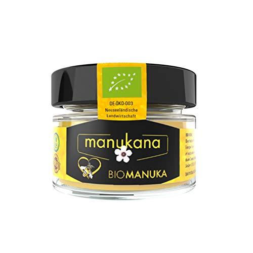 Manukana Bio Manuka Honig MGO 263+ (125g) | Weltweit beste Qualität | Ethische Imkerei | Echte Gläser