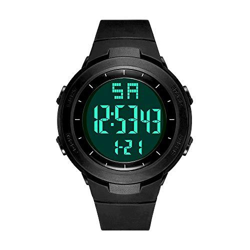 READ Digital Sport Armbanduhr, Outdoor Digital Sportuhr Uhren Wasserdichter Countdown/stoppuhr/Alarm mit LED Hintergrundbeleuchtung (R90008-Black)