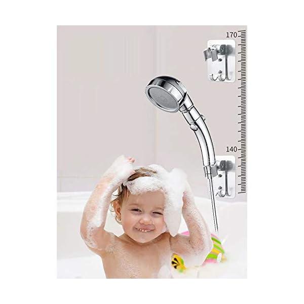 Wuudi Soporte para alcachofa de Ducha 1Pcs sin Taladro, Ajustable Resistente al Agua Soporte para alcachofa de Ducha de…