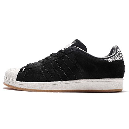 adidas Men's Superstar, CORE Black/Off White, 10.5 M US