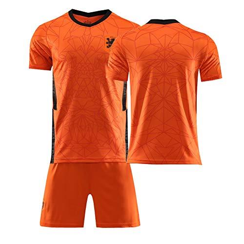 Argentina Países Bajos Memphis No. 10 Virgil No. 4 Conjunto de Ropa Deportiva de fútbol, Jersey Local de fútbol de la Copa de Europa-Orange-M
