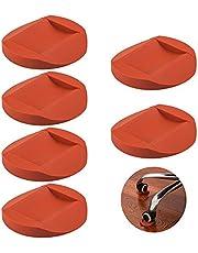 6 Stks Rubber Meubilair Caster Cups, AIFUDA Meubelonderzetters Anti-Sliding Floor Grip Vloerbeschermers voor Alle Vloeren & Wielen van Meubels, Banken en Bed