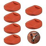 AIFUDA, Set di 6 coppe bloccaruote in gomma per mobili, protezioni per pavimento antiscivolo, per tutti i pavimenti e tutte le ruote di mobili, divani e letti