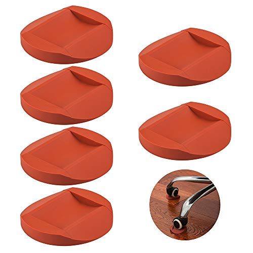 6 Pcs Rubber Furniture Caster Cups, AIFUDA Furniture Coasters Anti-Sliding Floor Grip Floor Protectors for All Floors & Wheels of Furniture, Sofas and Bed